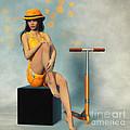 Orange And Black by Jutta Maria Pusl