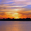 Orange And Blue Sunset by Cynthia Guinn
