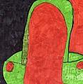 Orange And Green by Elinor Helen Rakowski
