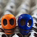 Orange And Navy Blue by Mike Herdering