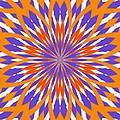 Orange And Purple Kaleidoscope by Sharon Woerner