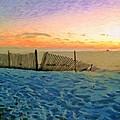 Orange Beach Sunset - The Waning Of The Day by Rebecca Korpita