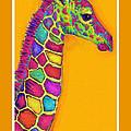 Orange Carosel Giraffe by Jane Schnetlage
