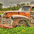 Orange Chevy by Thomas Young