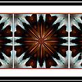 Orange Chocolate Trio - Kaleidoscope - Triptych by Barbara Griffin