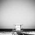 Orange County Lifeguard Tower Black And White Picture by Paul Velgos