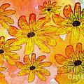 Orange Flowers Galore Digital Art by Debbie Portwood