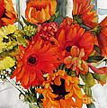 Orange Gerberas by Wendy Westlake