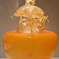 Orange Glass Sculpture by Sonali Gangane
