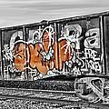 Orange Graffiti by Lori Frostad