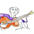 Orange Guitar by Jim Taylor