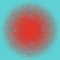 Optical Illusion - Orange On Aqua by Paulette B Wright
