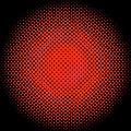 Optical Illusion - Orange On Black by Paulette B Wright