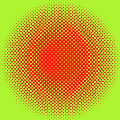 Optical Illusion - Orange On Lime by Paulette B Wright