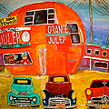 Orange Julep Truck Line-up Montreal Memories by Michael Litvack