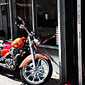 Orange Motorcycle by Alice Gipson