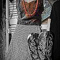 Vintage Orange Necklace by Kathy Barney
