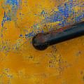 Orange On Blue by Edgar Laureano