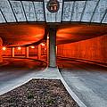 Orange Parking Garage by Berkehaus Photography