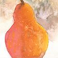 Orange Pear by Mickey Krause