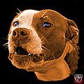 Orange Pitbull Dog 7769 - Bb - Fractal Dog Art by James Ahn