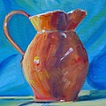 Orange Pitcher Still Life by Donna Tuten