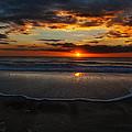 Orange Rise by  Island Sunrise and Sunsets Pieter Jordaan