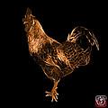 Orange Rooster 3186 F by James Ahn