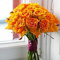 Orange Rose Wedding Bouquet by Lee Avison