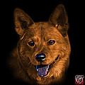 Orange Shiba Inu Dog Art - 8555 - Bb by James Ahn