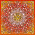 Orange Space Flower by Hanza Turgul