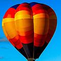 Orange Stipped Hot Air Balloon by Robert Bales