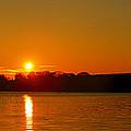 Orange Sunrise Over Dc by Metro DC Photography