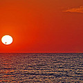Orange Sunset by Aimee L Maher ALM GALLERY