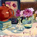Orange Teapot by Carolyn Elmsford