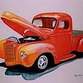 Orange Truck by Stacy C Bottoms