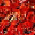 Orange Under Glass Abstract by Carol Groenen