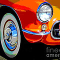 Orange Vette by Chuck Re