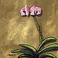 Orchid On Khaki by Dale Moses