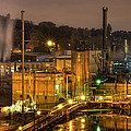 Oregon City Electricity Power Plant At Night by David Gn