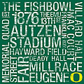 Oregon College Colors Subway Art by Replay Photos