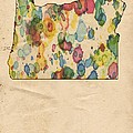 Oregon Map Vintage Watercolor by Florian Rodarte
