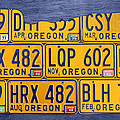 Oregon State License Plate Map by Design Turnpike