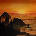 Oregon Sunset by Suzette Kallen