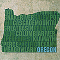 Oregon Word Art State Map On Canvas by Design Turnpike