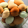 Organic Eggs From Locally Harvested Pasture Raised Chickens by Ricky L Jones