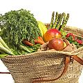 Organic Fruit And Vegetables In Shopping Bag by Patricia Hofmeester