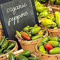 Organic Peppers At Farmers Market by Teri Virbickis