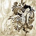 Oriental Beauty Sepia Tone by Georgiana Romanovna