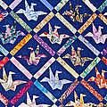 Origami Quilt Wall Art Prints by Valerie Garner